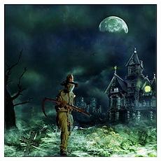 Grim Reaper Halloween Poster