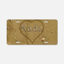 Kade Beach Love Aluminum License Plate