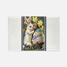 Easter Greetings Bunny Rectangle Magnet