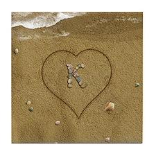 K Beach Love Tile Coaster