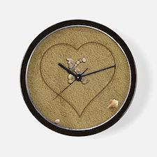 K Beach Love Wall Clock
