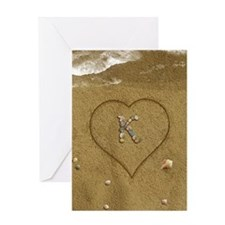 K Beach Love Greeting Card