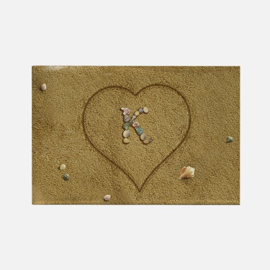 K Beach Love Rectangle Magnet