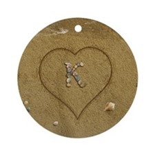 K Beach Love Ornament (Round)