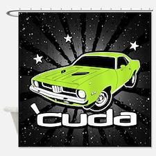 'Cuda - Sub Lime Shower Curtain
