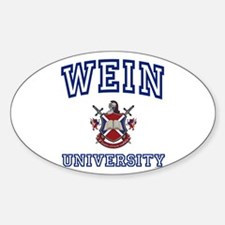 WEIN University Oval Decal