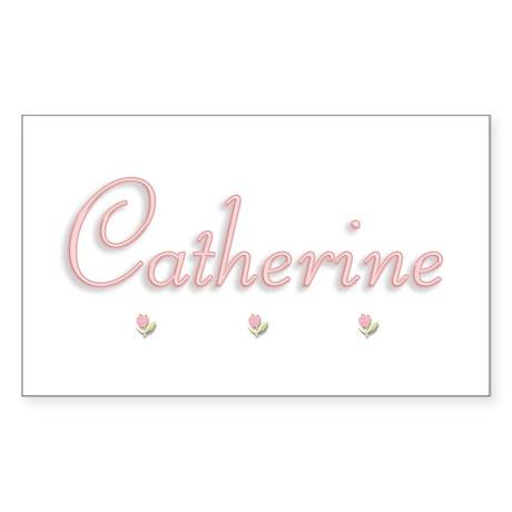 Catherine's Rosebuds Rectangle Sticker
