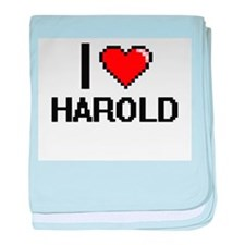 I Love Harold baby blanket