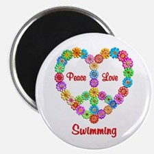 "Swimming Peace Love 2.25"" Magnet (100 pack)"