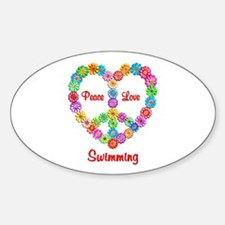 Swimming Peace Love Decal