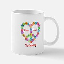 Swimming Peace Love Mug