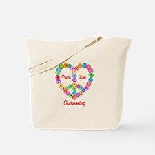 Swimming Peace Love Tote Bag