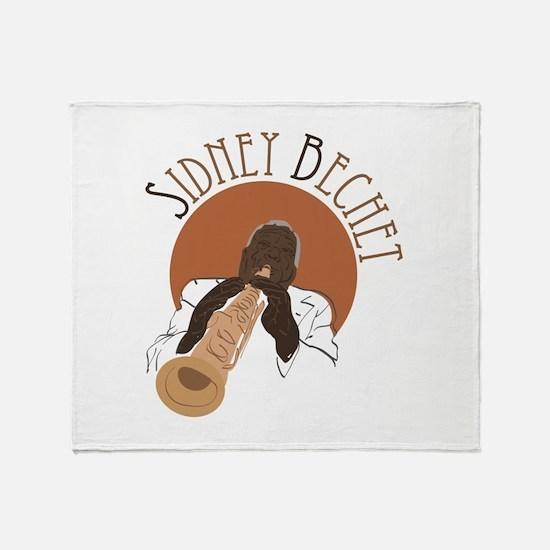 Sidney Bechet Throw Blanket