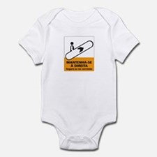Keep to the Right, subway Rio (BR) Infant Bodysuit