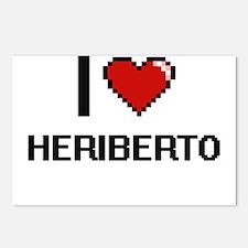 I Love Heriberto Postcards (Package of 8)