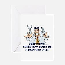 Bad Hair Day Humor Greeting Card