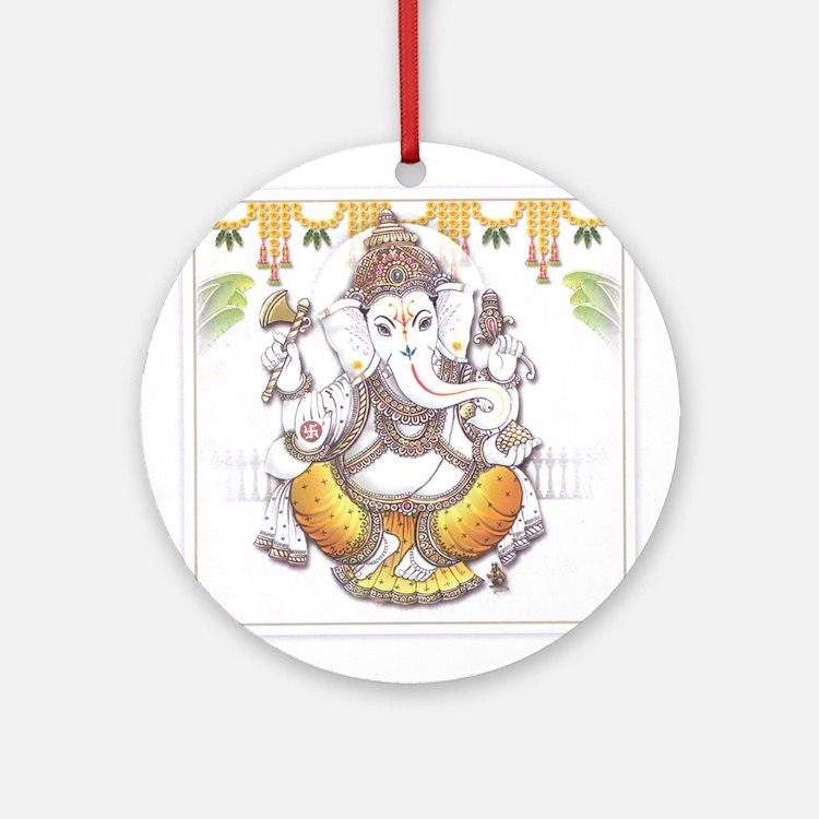 Ganesh Ornament (Round)