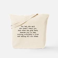 Ruining Lives (blk) - Napoleon Tote Bag