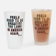 Eastbound and Down Breaking the Law Drinking Glass