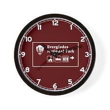 Everglades National Park, Florida Wall Clock