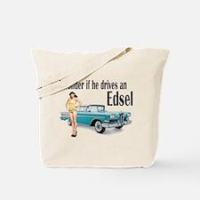 I wonder if he drives an Edsel? Tote Bag
