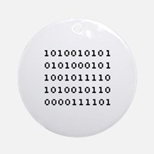 Binary Code Ornament (Round)