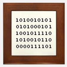 Binary Code Framed Tile