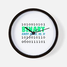 Binary Easy As 01, 10, 11 Wall Clock