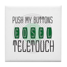 Push my buttons, Edsel Teeletouch Tile Coaster