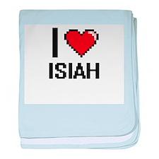 I Love Isiah baby blanket