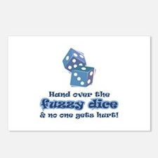 Hand fuzzy dice Postcards (Package of 8)