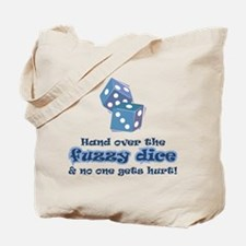 Hand fuzzy dice Tote Bag