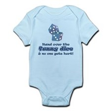 Hand fuzzy dice Infant Bodysuit