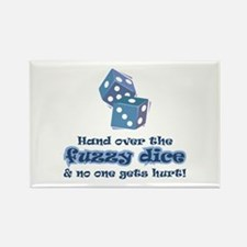 Hand fuzzy dice Rectangle Magnet