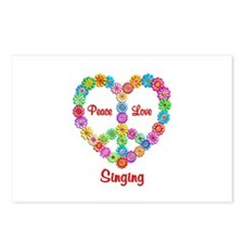Singing Peace Love Postcards (Package of 8)