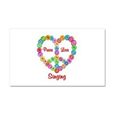 Singing Peace Love Car Magnet 20 x 12