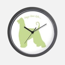 Dogs Love Life! Wall Clock