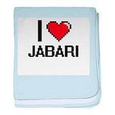 I Love Jabari baby blanket