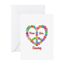Sewing Peace Love Greeting Card