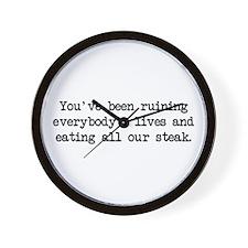 Ruining Lives 2 (blk) - Napoleon Wall Clock