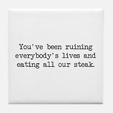 Ruining Lives 2 (blk) - Napoleon Tile Coaster