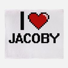 I Love Jacoby Throw Blanket