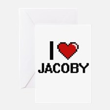 I Love Jacoby Greeting Cards