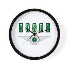 The Flying Edsel Bullseye in Green Wall Clock