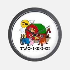 TWO-I-E-I-O Wall Clock