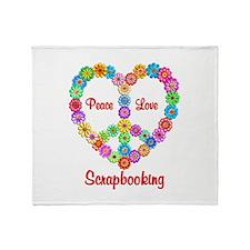 Scrapbooking Peace Love Throw Blanket
