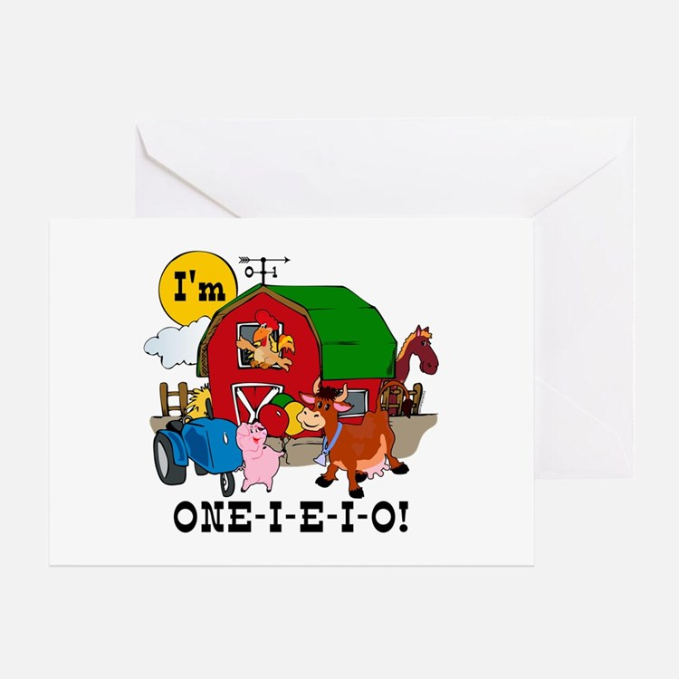 ONE-I-E-I-O Greeting Card