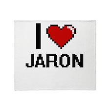 I Love Jaron Throw Blanket