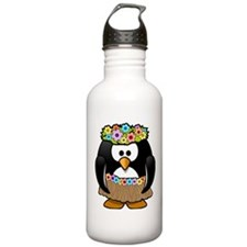 Hula Penguin Water Bottle