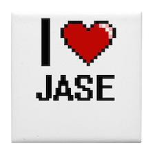 I Love Jase Tile Coaster